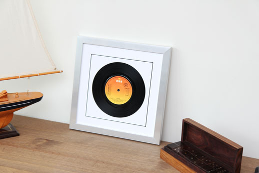 7inch Disc Silver Frame White Mount