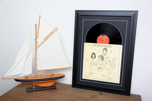 12 inch Sleeve & Disc Black Frame Black Mount